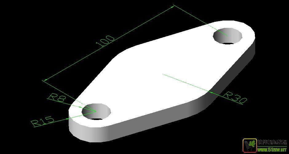 AutoCAD价格v价格-[原创]Autocad三维图练习[5名片设计机械图片
