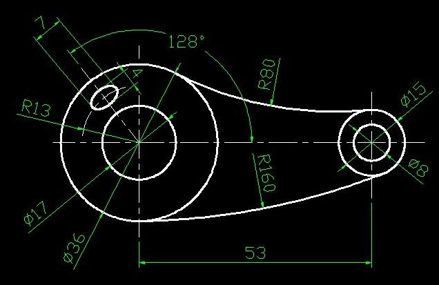 128度的椭圆怎么画