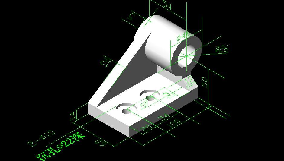 再发些CAD三维图给大家练习[51延长网园地]cad直线v园地自学图片