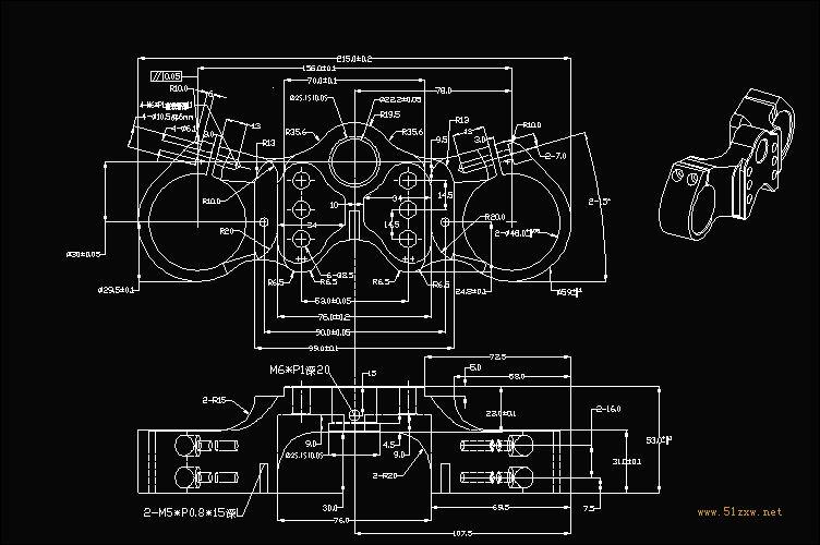AutoCAD机械v机械-CAD园地[51自学网图纸]cad横线去掉
