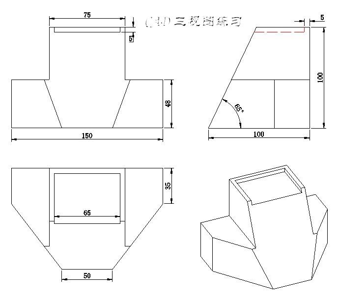 椅子设计三视图; 手绘家具三视图创意家具手绘三视图