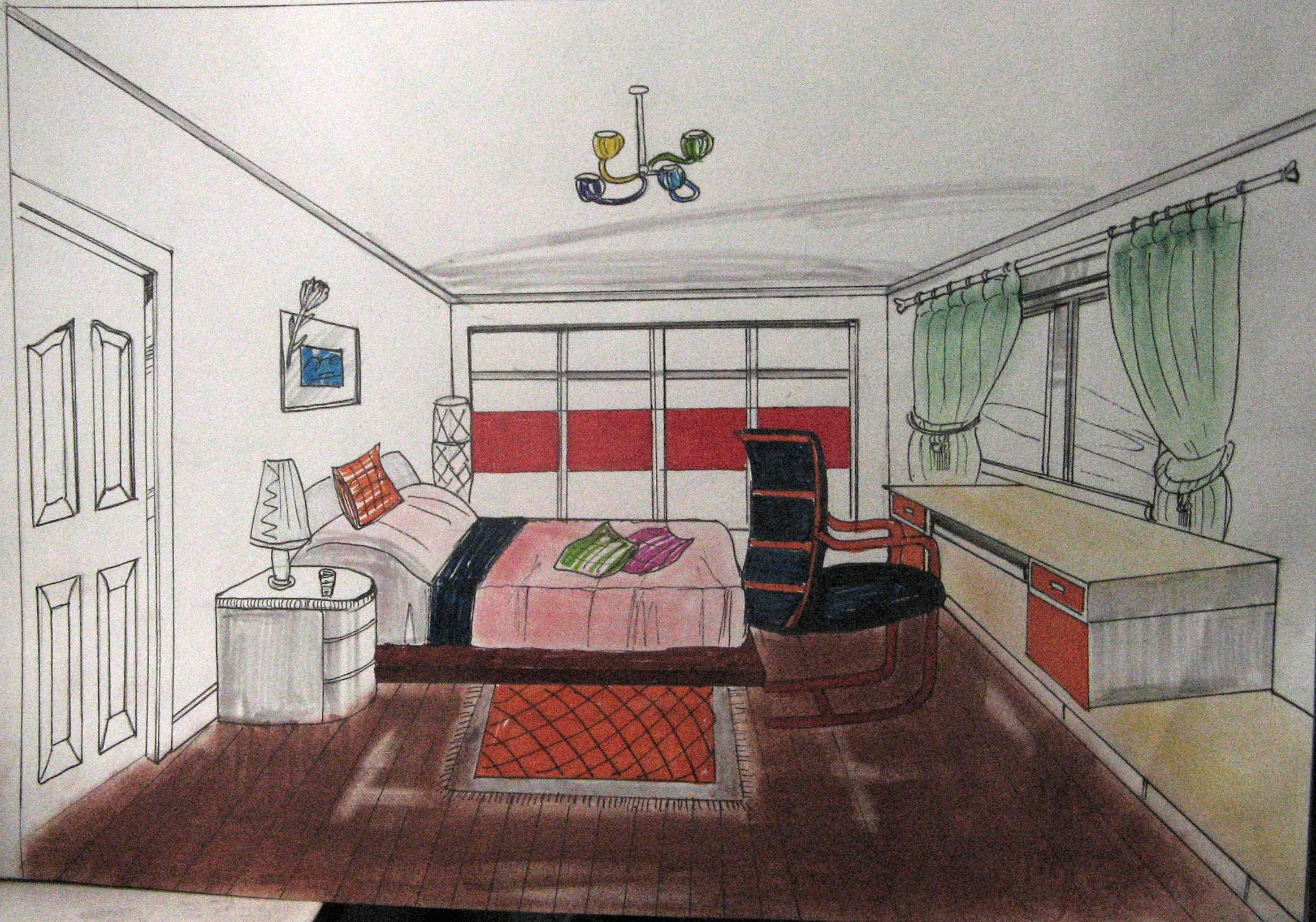 我画的 手绘室内效果图~~~~~ 【已奖励】