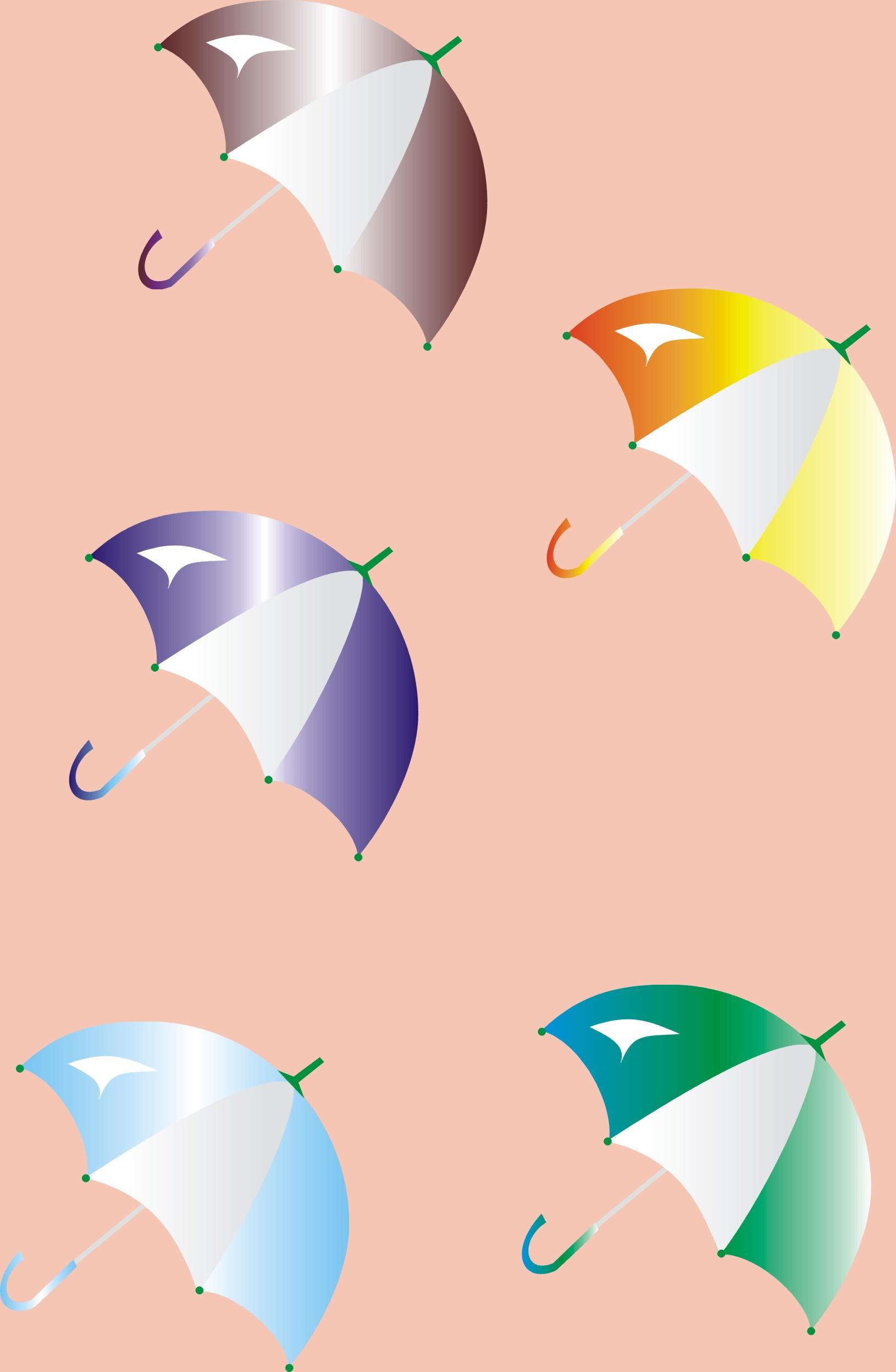 雨伞和蜜蜂矢量图