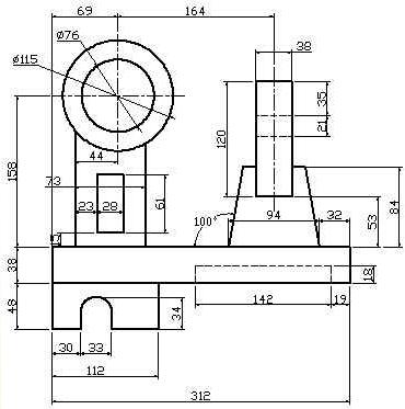 我用于教学的CAD自学图纸[51练习网墙面]敲积怎么园地看图纸图片