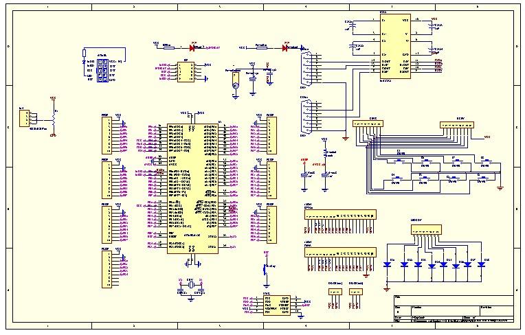 protel学习论坛 → mega128系统板pcb电路原理图