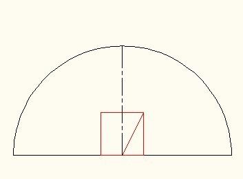 半圆里画个最大的正方形!