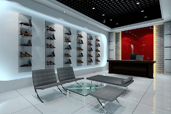五一女鞋店面装饰图片