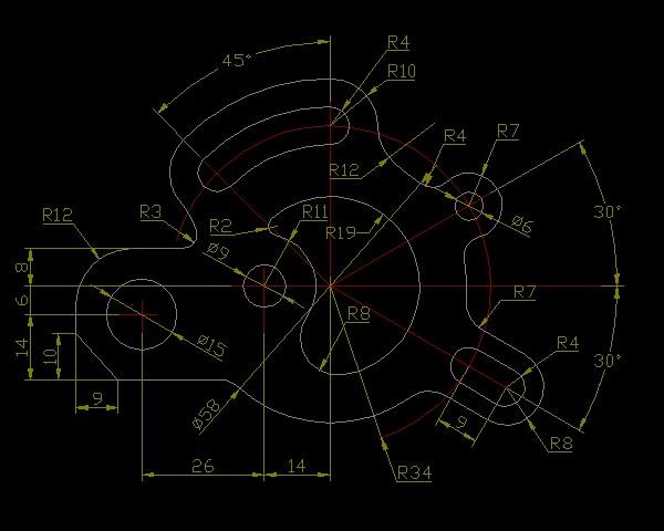 CAD动态练习题2[51自学网新手]5板厘cad块园地图图片