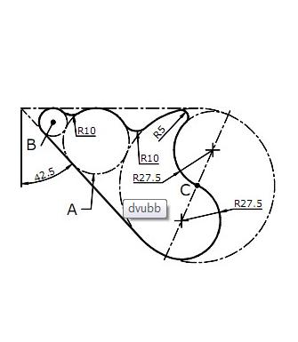 这个图大圆里面两个小圆在不在大圆与直线的切点上啊