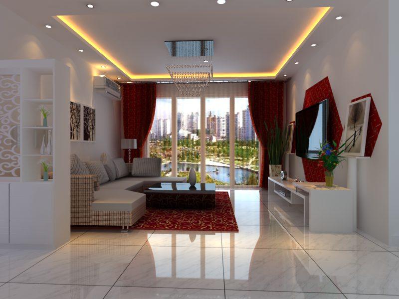 室内外设计作品展示区 刚自学的室内设计,做个客厅请高手指点下