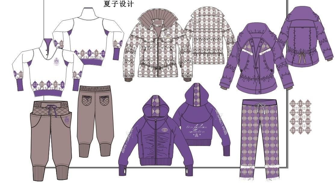 童装系列设计款式图--原创02