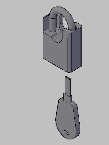 autocad机械设计-上个自己画的cad锁头图,再问下一个