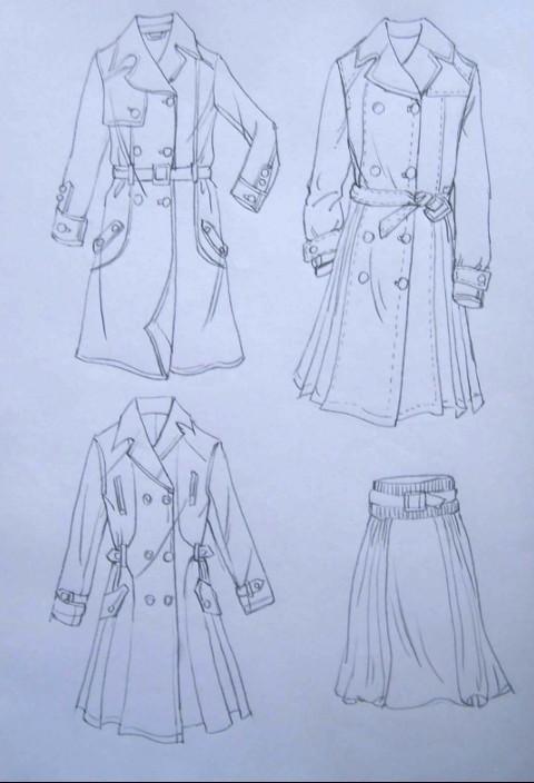 衣服铅笔设计图图片