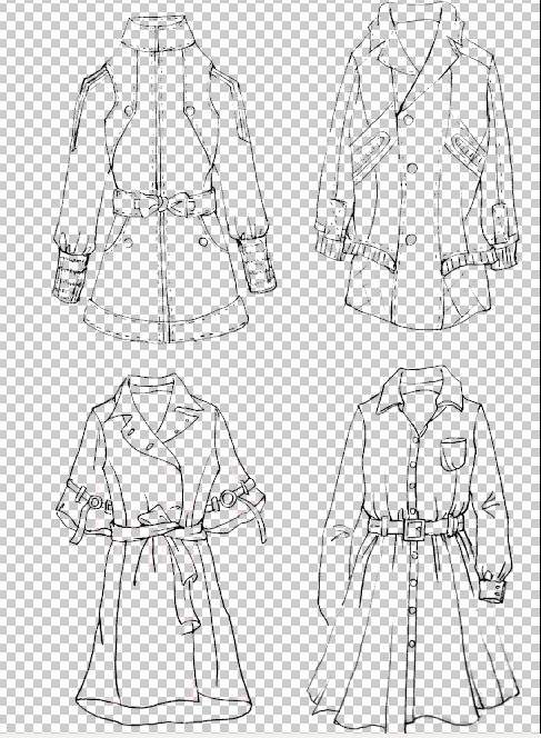 服装设计图铅笔画男士展示