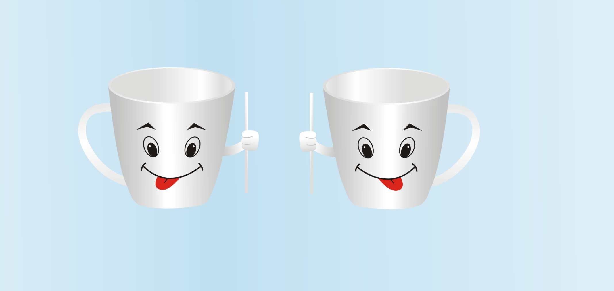 两个可爱的杯子