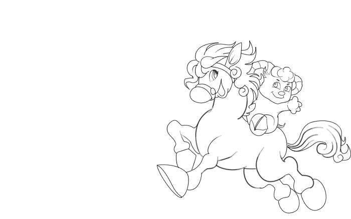小羊骑马(简笔画)