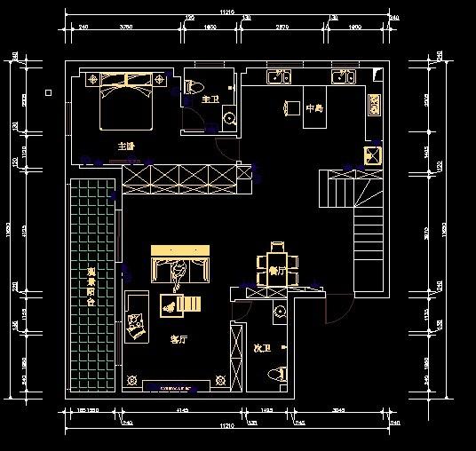求家装水电路cad设计图图片
