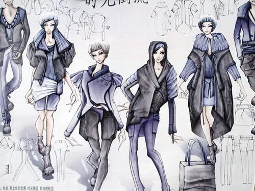 服装设计时装画与效果图
