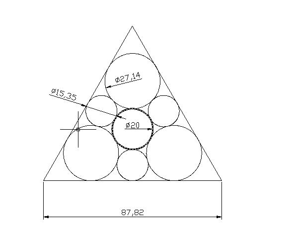 等边三角形加里面7个圆