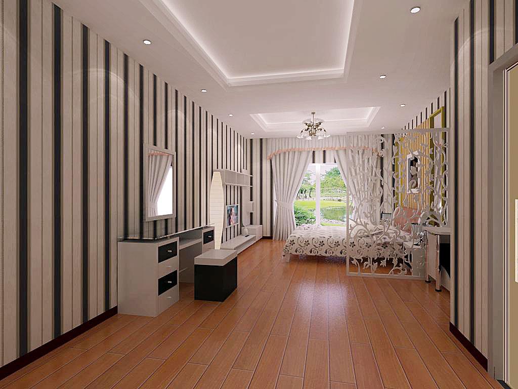 现代中式卧室设计