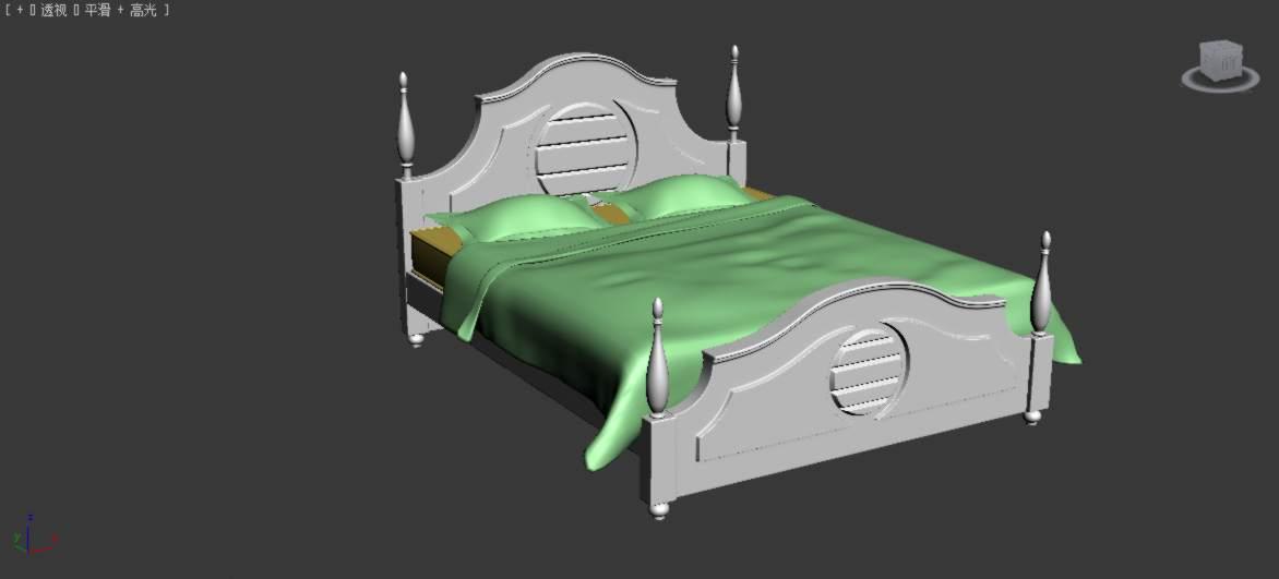 欧式床模型免费下载
