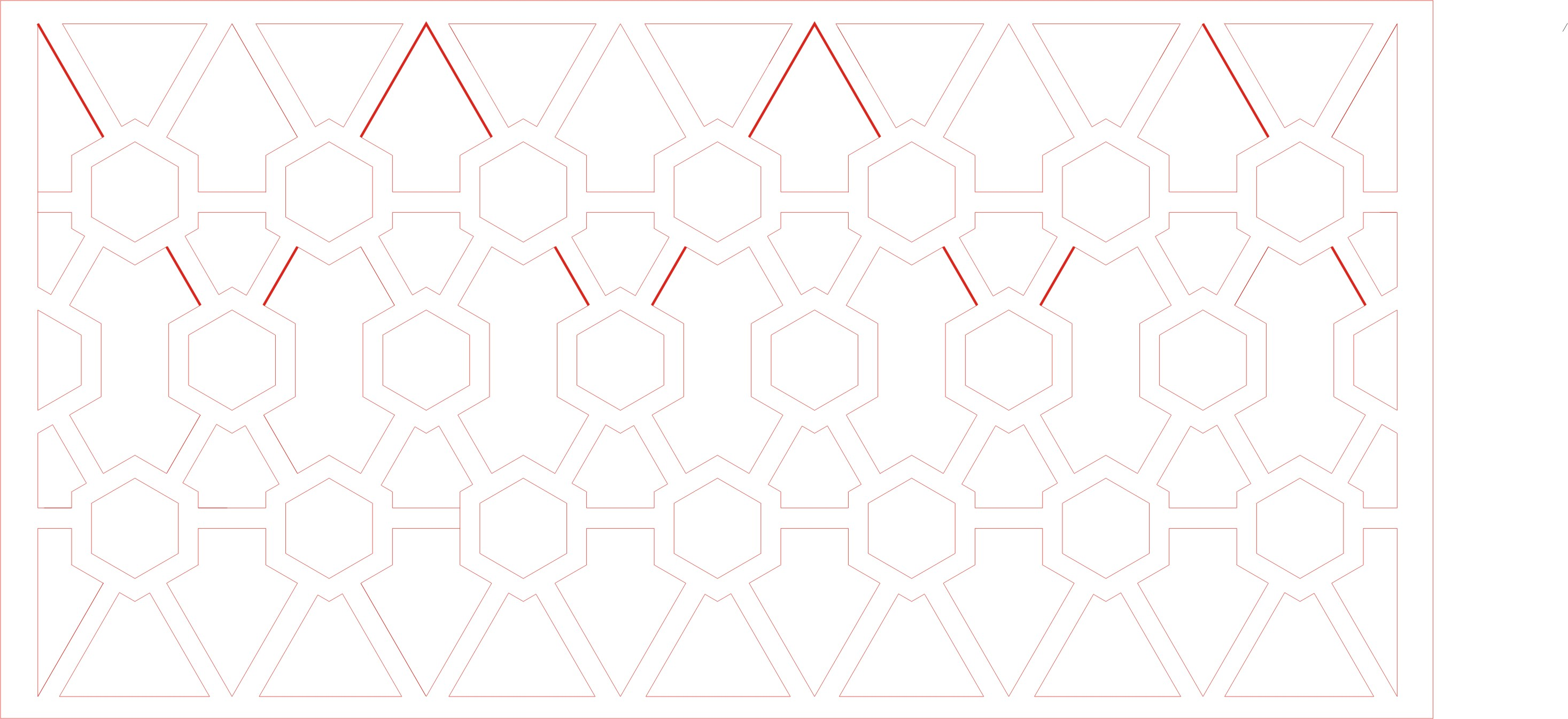 先画出穿过六边形中心的线,分左扩和右扩,再使用[虚拟段删除]工具.