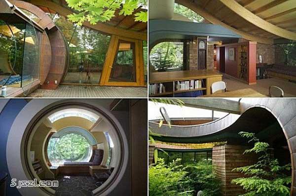 美国波特兰树林木屋 组图