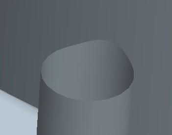 模具分型面时,俯视图为圆,正视图一半圆在平面,一半在倒圆角上.