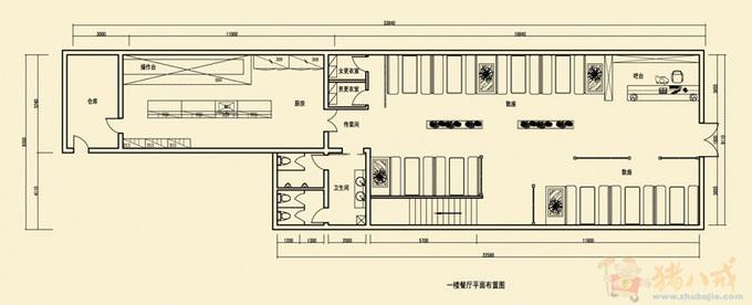 餐厅平面图设计[51自学网园地]