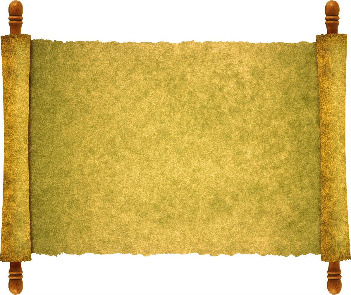 古风边框卷轴手绘