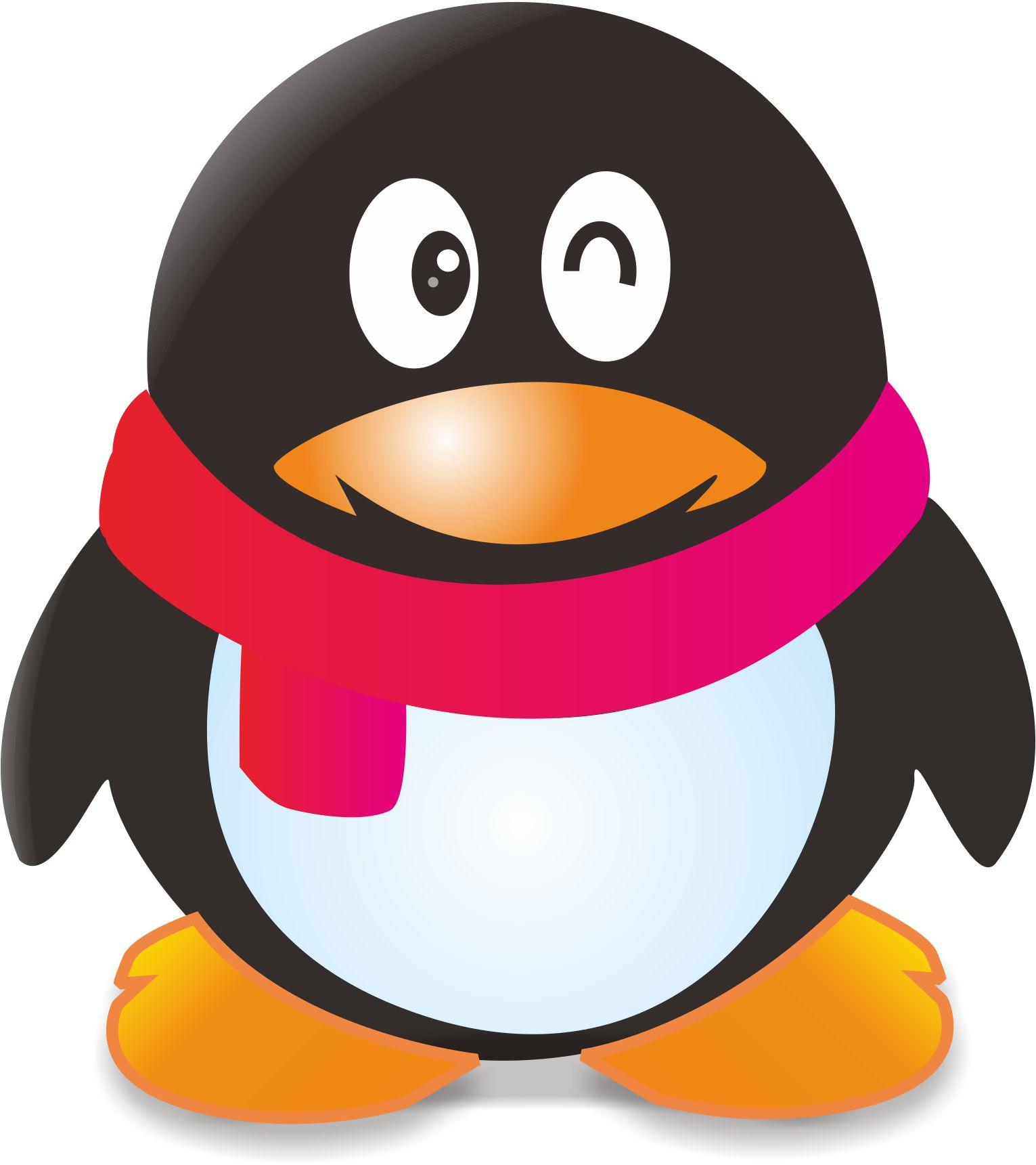 刚画的qq企鹅 嘿嘿
