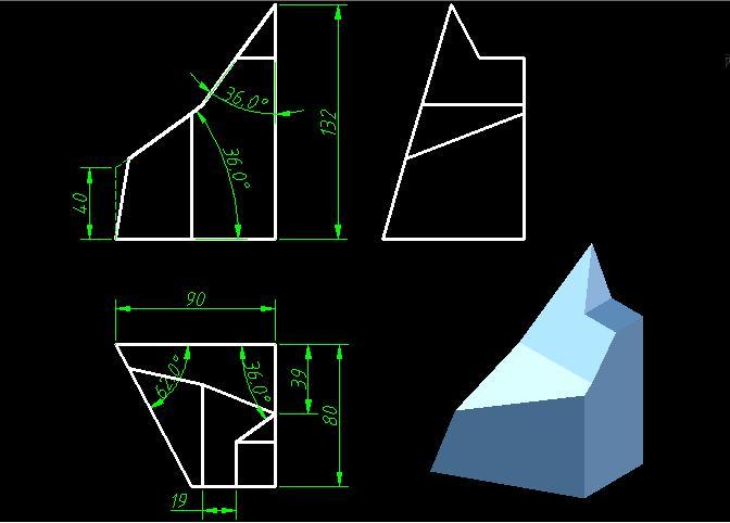 AutoCAD园地v园地-补画三视图[51自学网机械]既会做室内设计也会景观设计图片