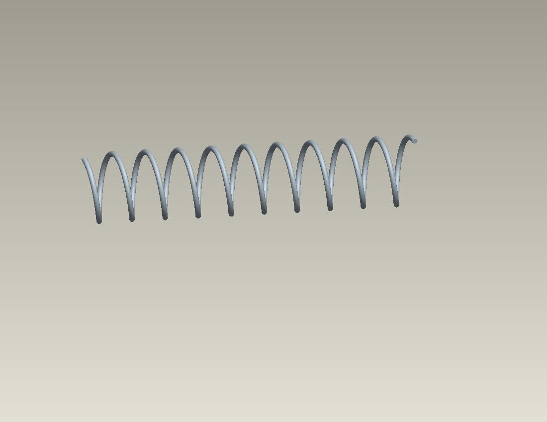如何画圆柱弹簧图片