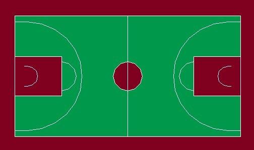 篮球场画线步骤图