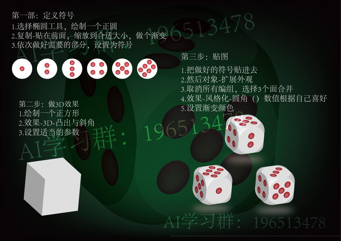 骰子制作方法