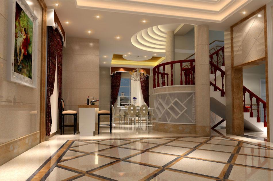 欧式别墅门厅设计