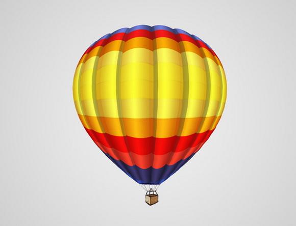 用photoshop快速打造飞翔的热气球