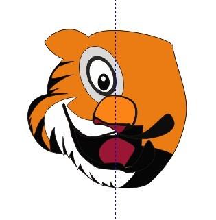 今天学画的一个老虎头