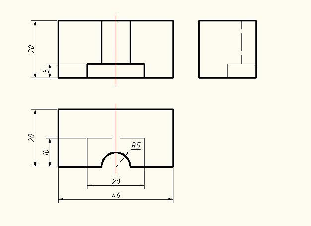 AutoCAD机械设计-补画三视图十二[51自学网园郑州二手房屋装修设计图片