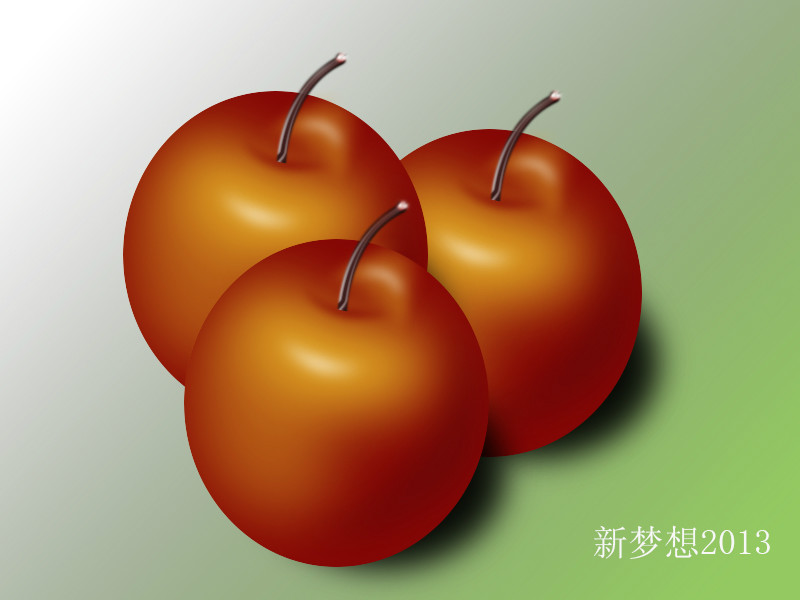 〔参与评论〕 说明: ps手绘苹果
