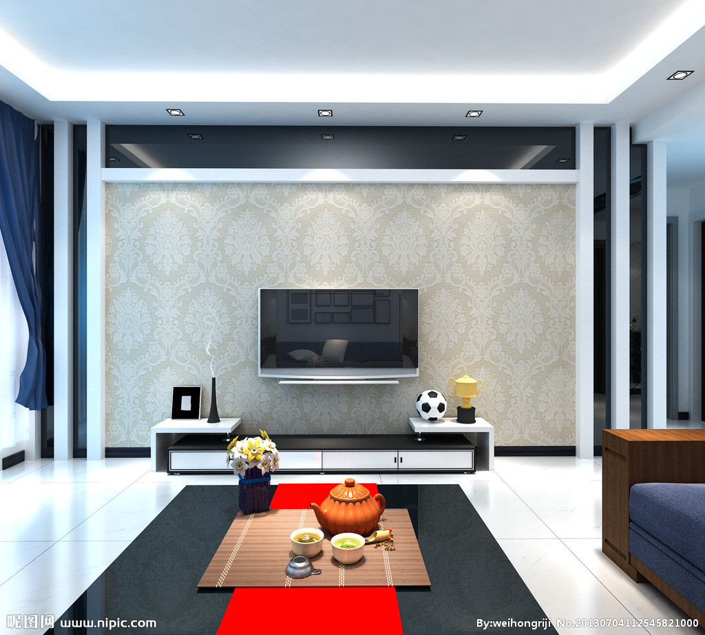 石膏板简单影视墙造型简单影视墙造型影视墙造型  石膏板电视墙造型