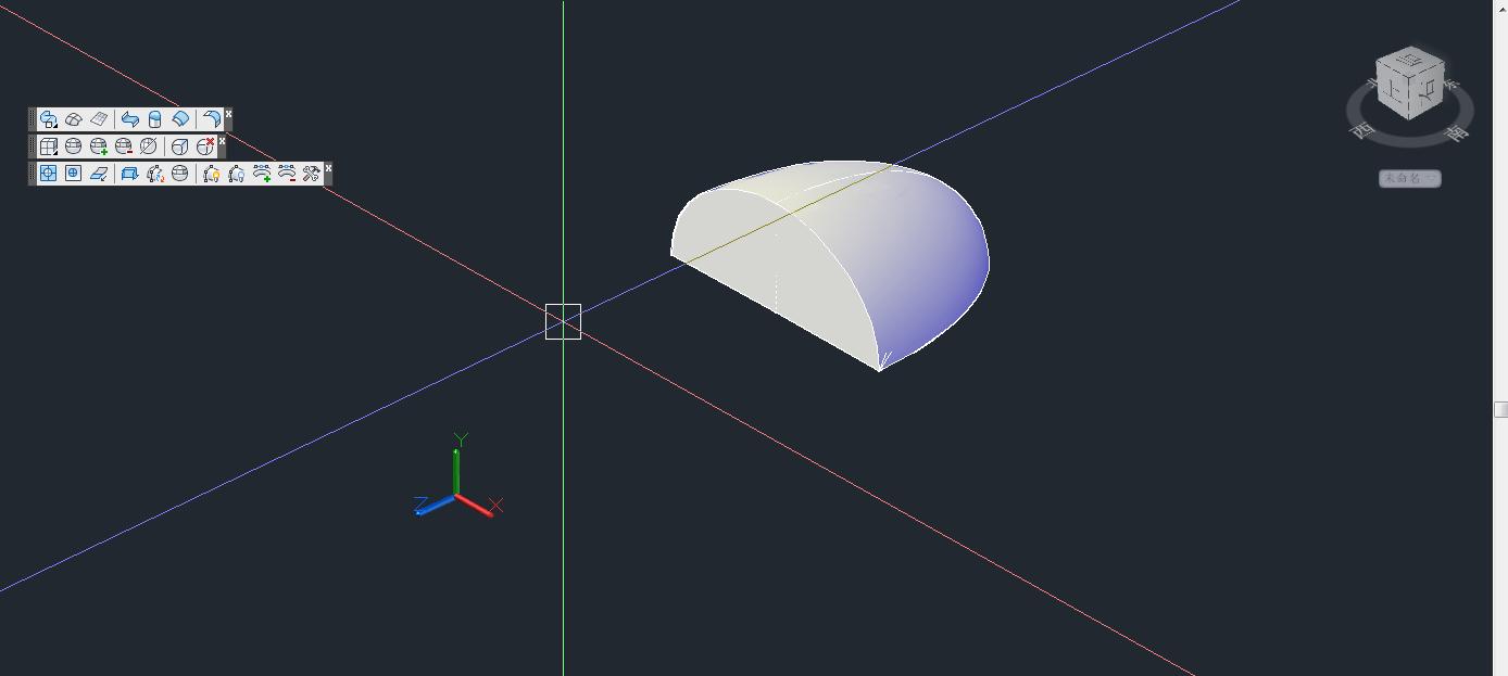 ... 机械设计 CAD怎样画一个椭圆和半个椭圆组成的三维图