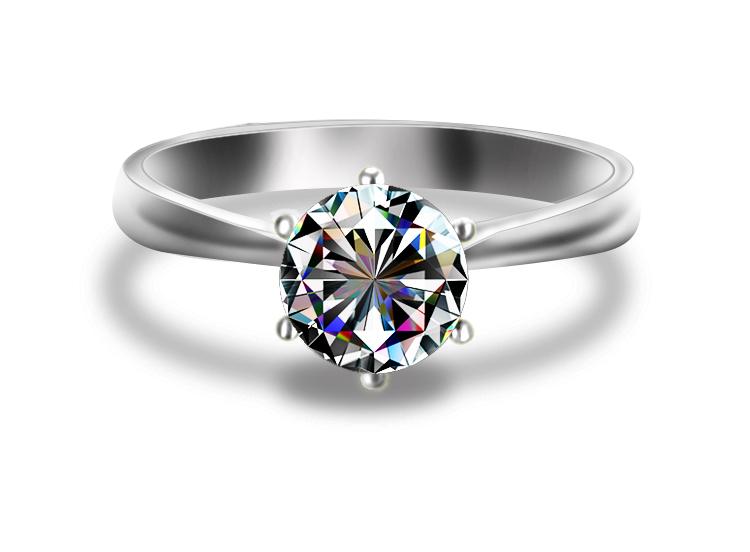 钻石戒指手绘设计图