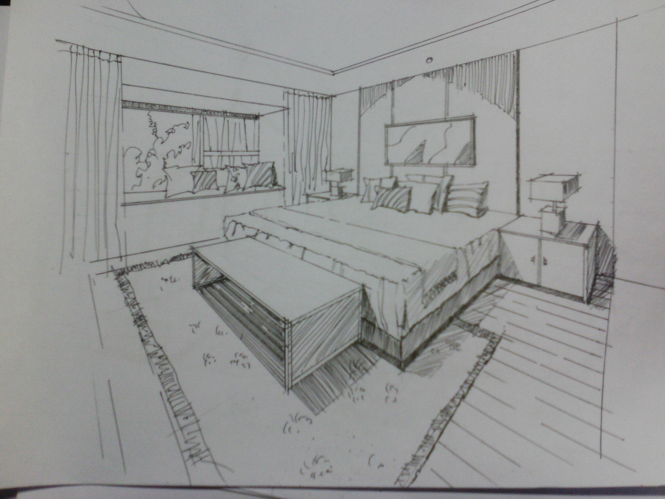 室内外设计手绘-自学半个月啦,临摹的线稿求大