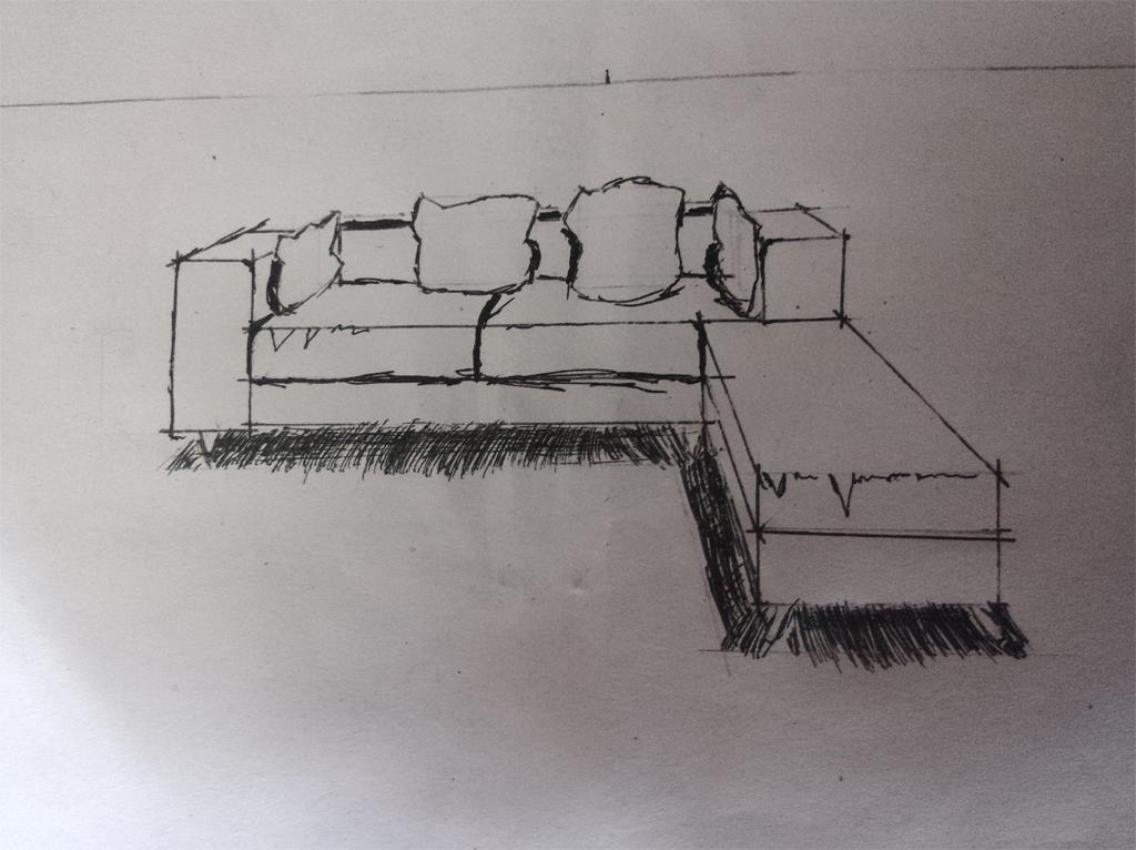 沈老师一点透视画沙发帮忙指点下