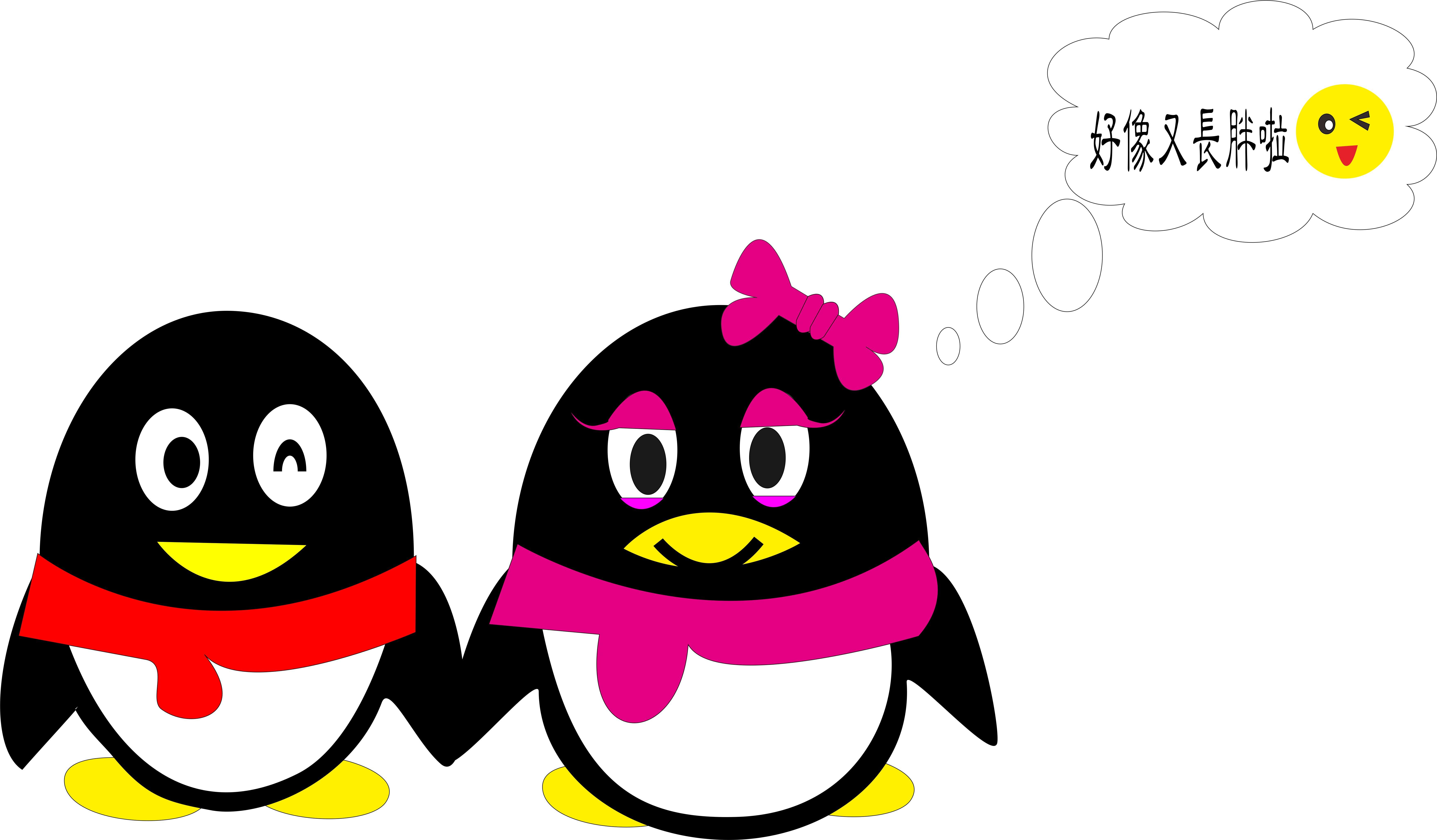 两只可爱qq企鹅