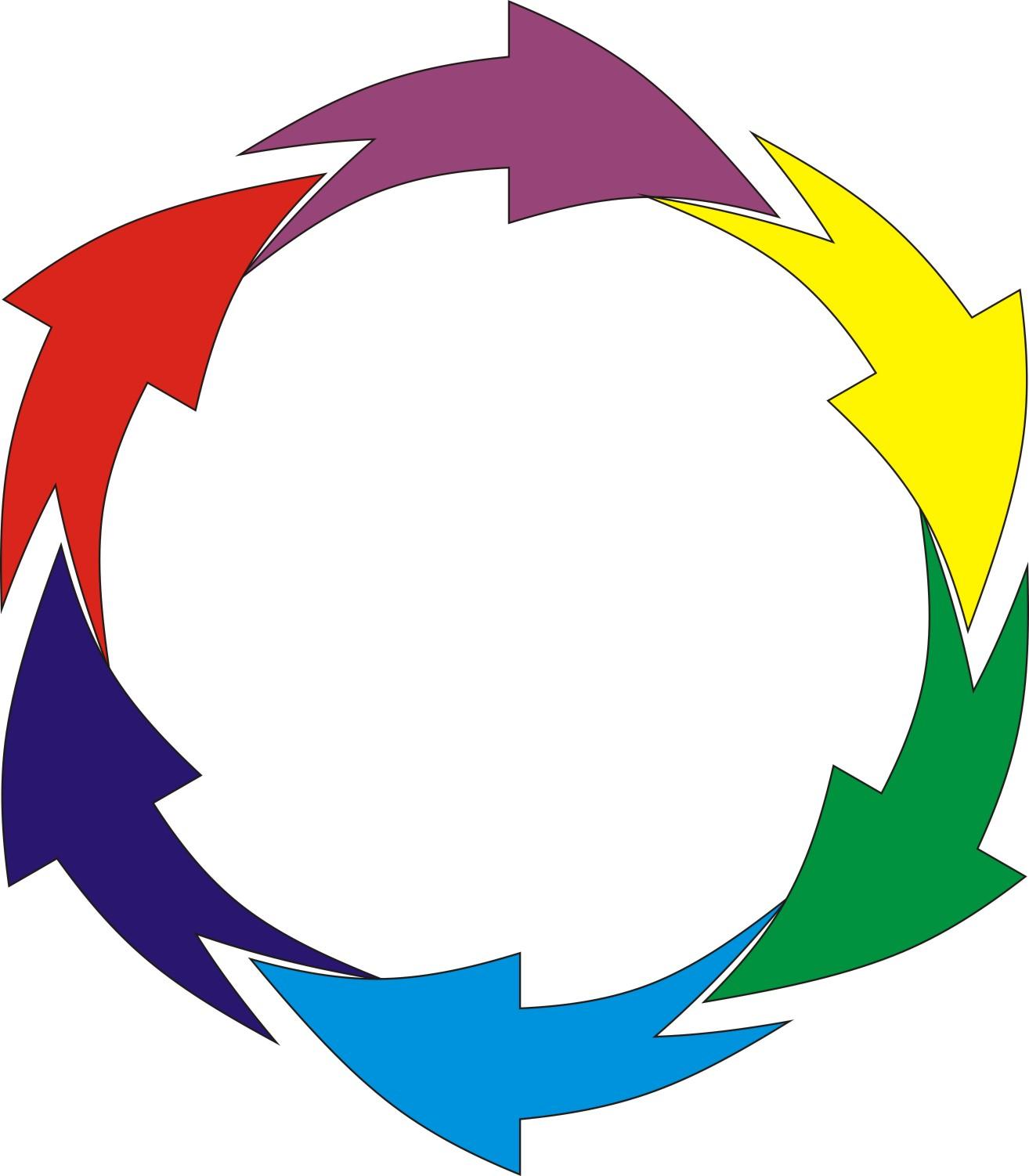 平面设计师--[区版:samohu] coreldraw → cdr里7个箭头环形循环怎么