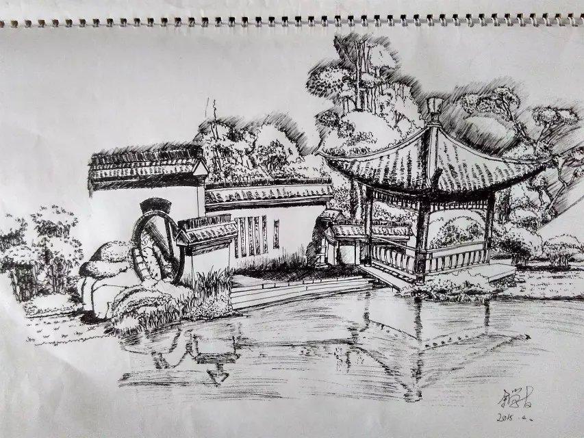 建筑园林景观手绘图2