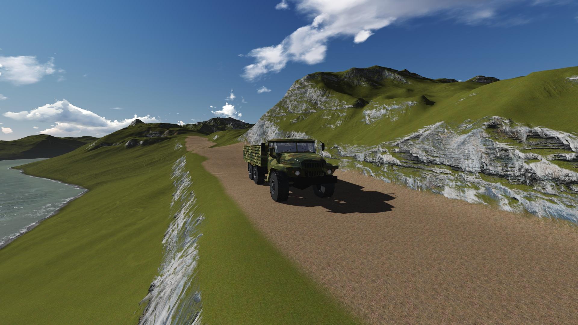 我用3dmax做的军用卡车模型,请大家指点