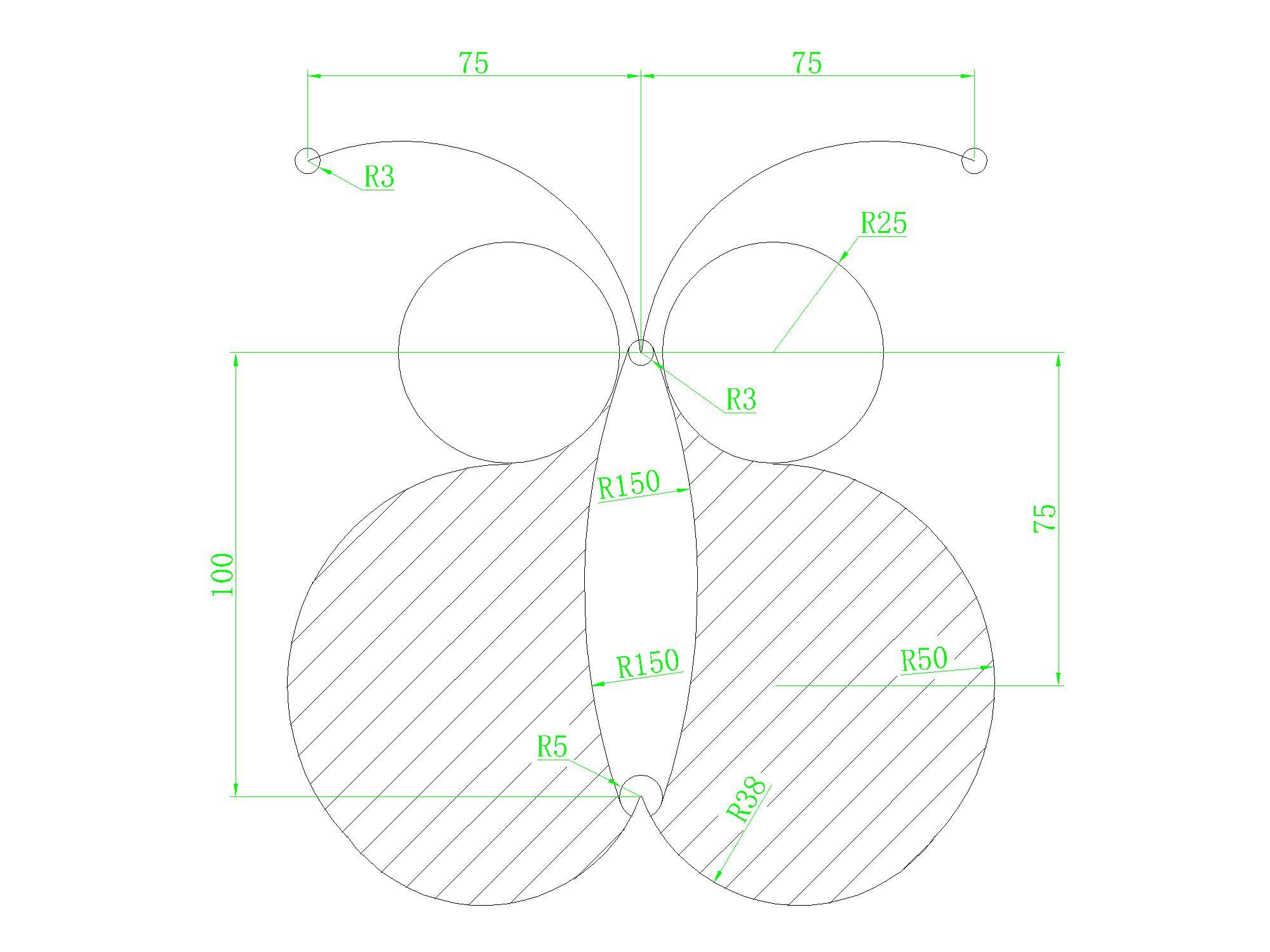 【求助】CAD初级练习贴里边,这些图纯粹无思跌水景墙cad施工图图片